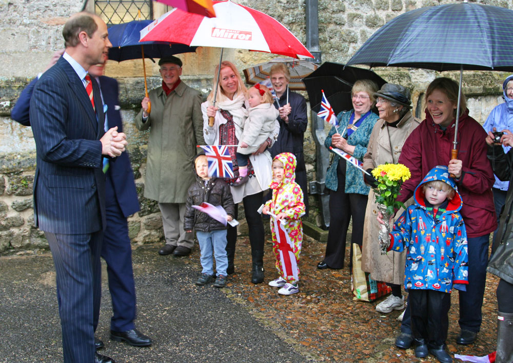 Prince Edward visits the Abbey