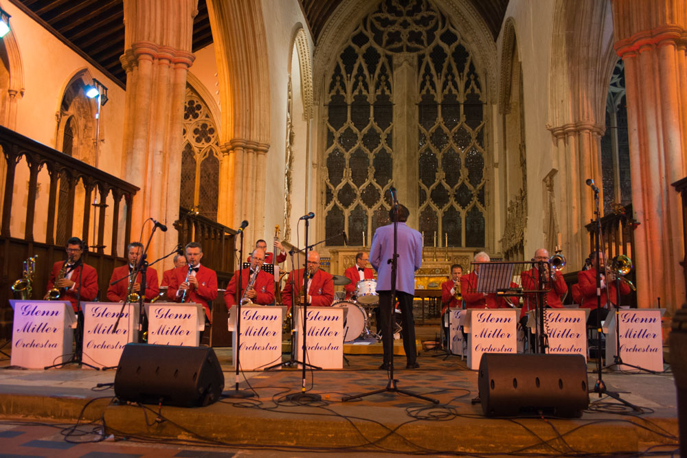 The Glenn Miller Orchestra perform in the Abbey