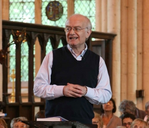 John Rutter conducts a Come and Sing at Dorchester Festival