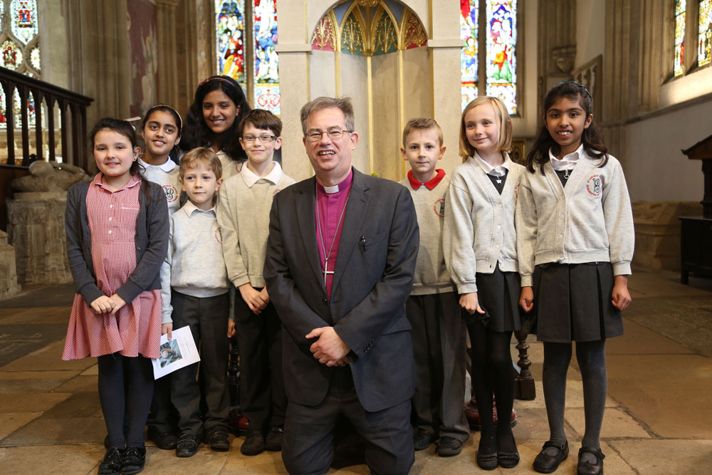 Bishop Steven Croft, St Birinus Primary School, Dorchester Abbey