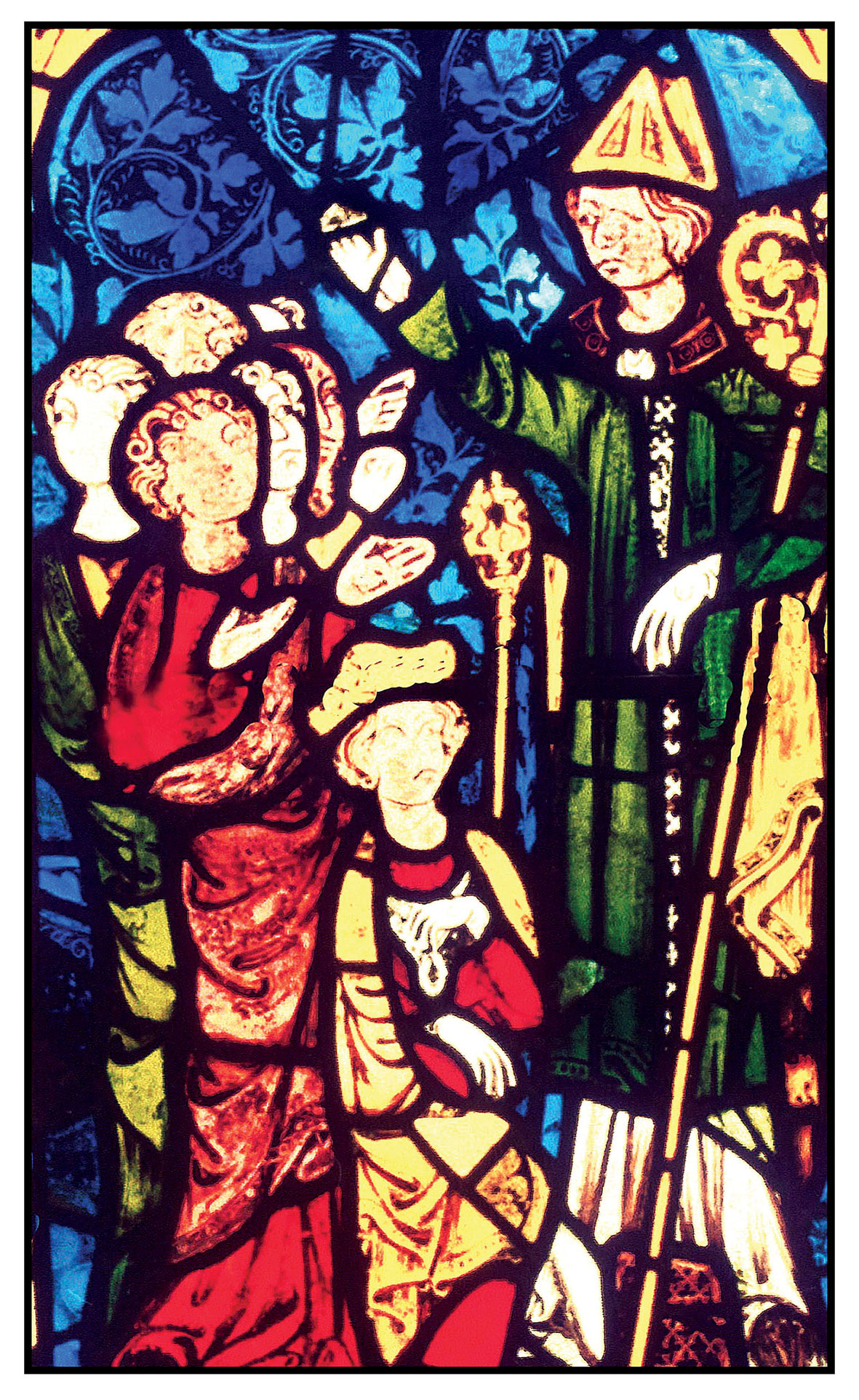St Birinus stained glass window