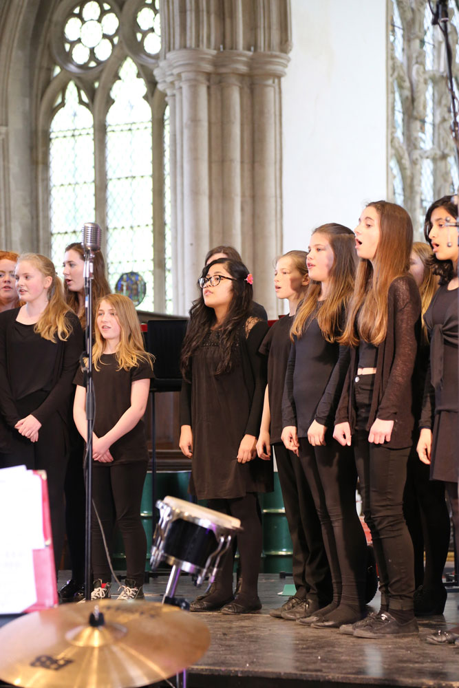Singers at Dorchester Abbey