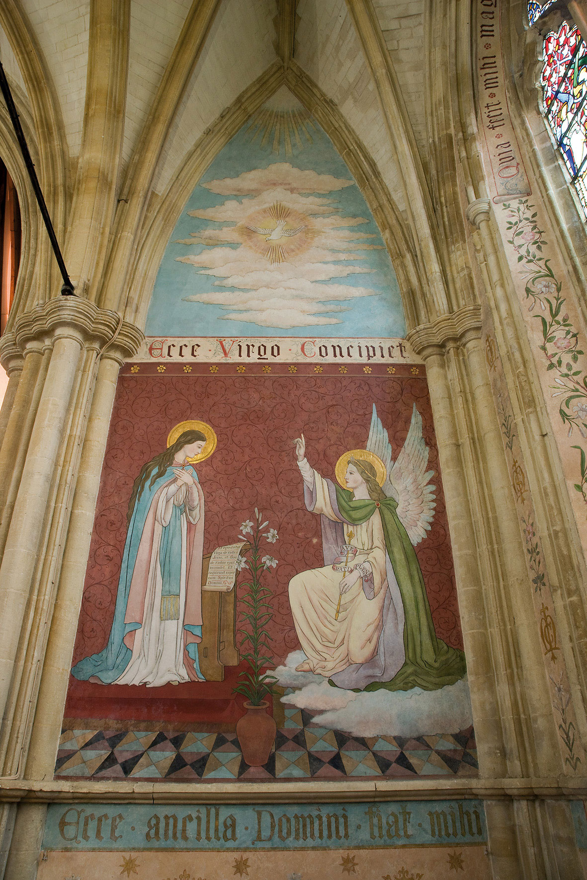 Dorchester Abbey victorian wall painting