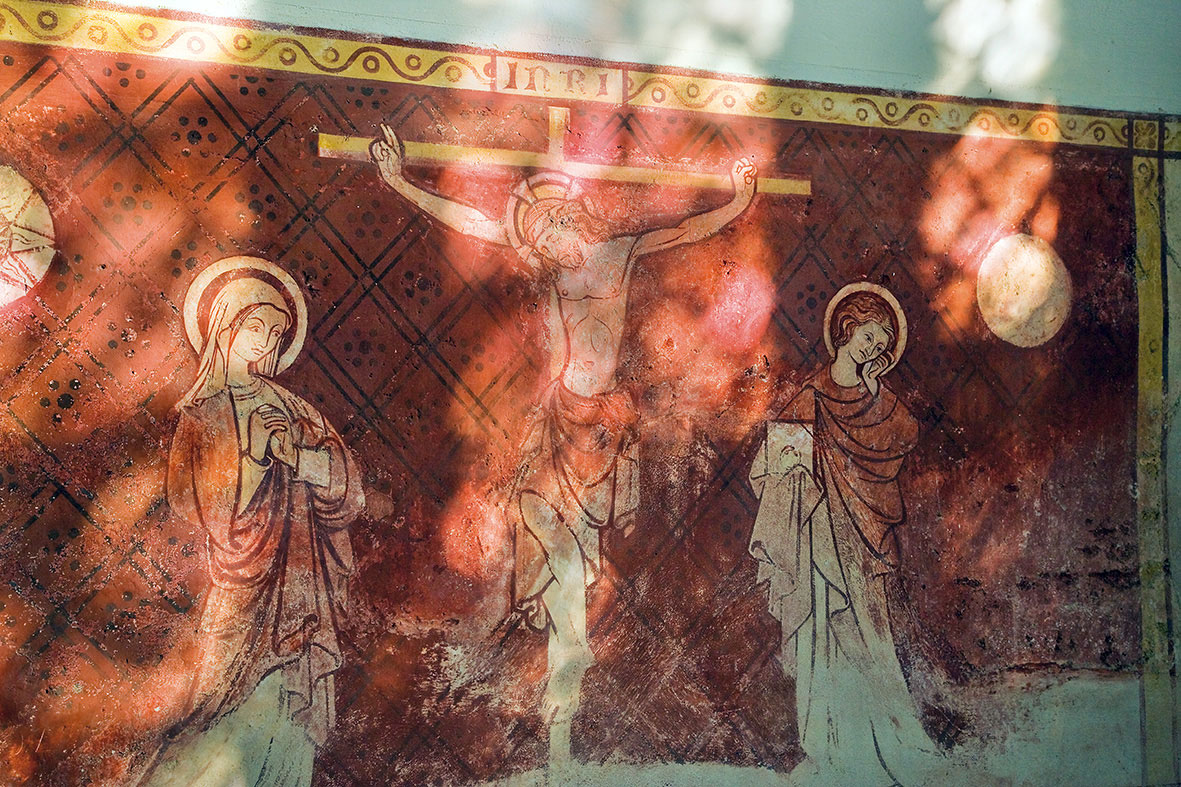 Dorchester Abbey crucifixion wall painting