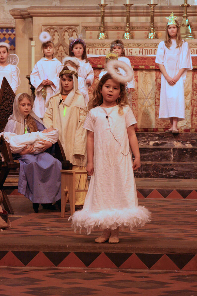 Nativity play at Dorchester Abbey