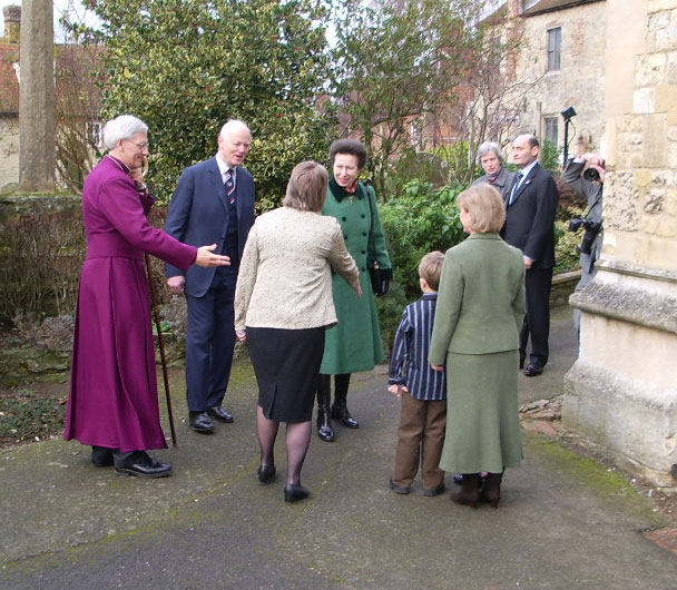 Princess Anne visits Dorchester Abbey in 2005 to celebrate the Campaign