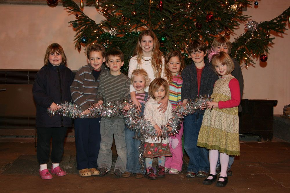 Decorating the Christmas Tree at Dorchester Abbey