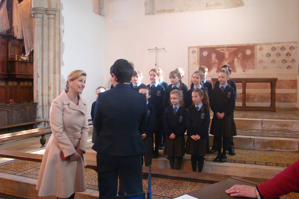 HRH Sophie, Countess of Wessex, visits Dorchester Abbey to celebrate the work of PACT