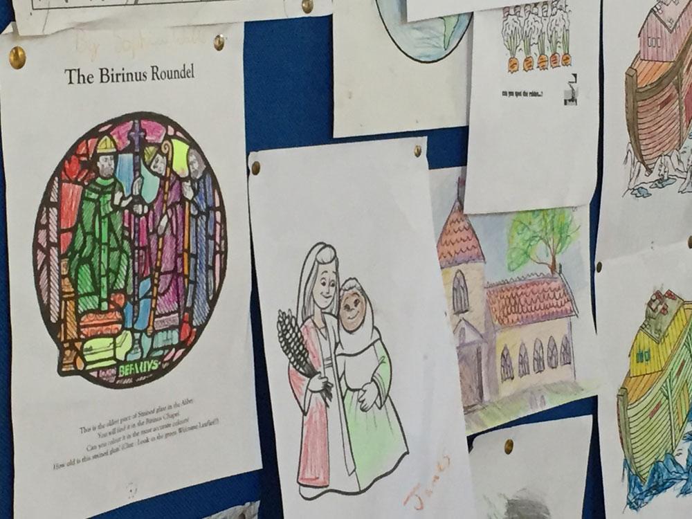 childrens corner Dorchester Abbey