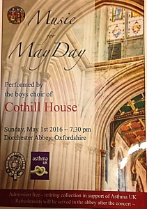 Cothill House Choir in Support of Asthma UK @ Dorchester Abbey |  |  |