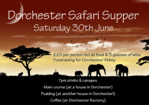 Safari Supper - Abbey fundraiser @ dorchester on thames | Dorchester | England | United Kingdom