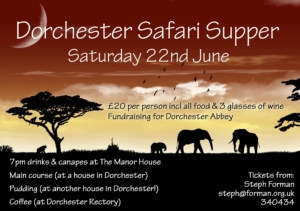 Safari Supper - Abbey fundraiser @ dorchester on thames | Dorchester | England | United Kingdom