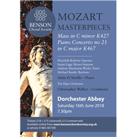 Benson Choral Society - Mozart Masterpieces @ Dorchester Abbey | Dorchester | England | United Kingdom