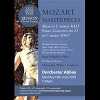 Benson Choral Society - Mozart Masterpieces @ Dorchester Abbey | Dorchester | England | United Kingdom