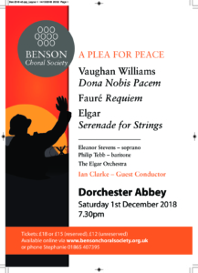 Benson Choral Society - Commemoration Ending of 1st World War @ Dorchester Abbey | Dorchester | England | United Kingdom