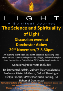Discussion Event - The Science and Spirituality of Light @ Dorchester Abbey | Dorchester | England | United Kingdom
