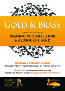 Concert continues as scheduled - A joint concert - Reading Phoenix Choir & Aldbourne Band @ Dorchester Abbey