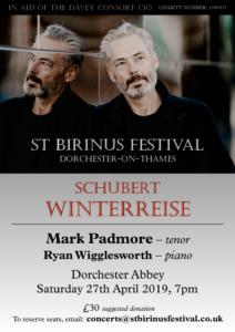 Davey Consort - Schubert Winterreise @ Dorchester Abbey