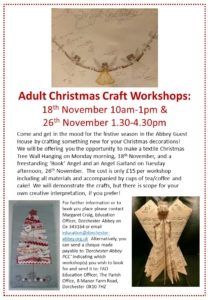 Christmas Craft Workshops @ Abbey Guest House