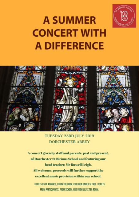 St Birinus Primary School - Summer Concert @ Dorchester Abbey