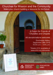 Oxford Historic Churches Trust - seminar - Churches for Mission and the Community Make your church building a resource for the future @ Dorchester Abbey