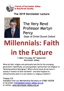 The Dorchester Lecture: The Very Revd Professor Martyn Percy @ Dorchester Abbey