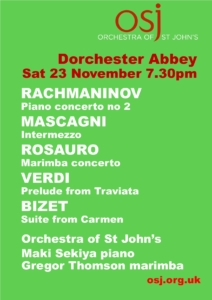 Orchestra of St John Music in the Abbey @ Dorchester Abbey