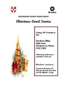 St John's Ambulance Christmas Carol Service @ Dorchester Abbey
