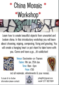 1 day mosaic workshop @ Abbey Guest House