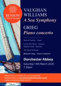 Benson Choral Society - Vaughan Williams' Sea Symphony @ Dorchester Abbey