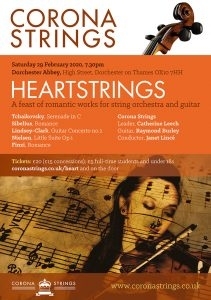 Corona Strings 'Heartstrings' a feast of romantic works @ Dorchester Abbey